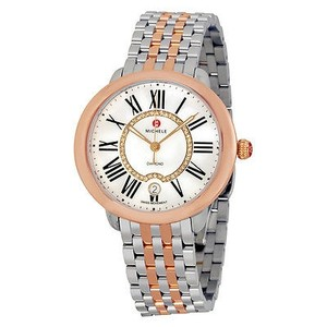 Michele Michele Serein White Mother Of Pearl Dial Two-tone Ladies Watch
