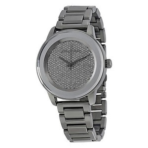 Michael Kors Michael Kors Kinley Crystal Pave Dial Ladies Gunmetal Watch