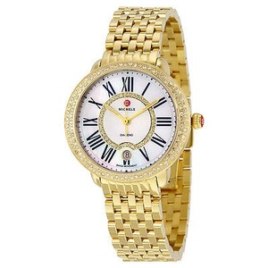 Michele Michele Serein White Mother Of Pearl Dial Ladies Watch