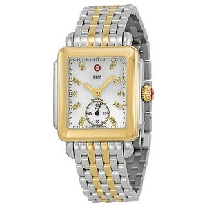 Michele Michele Deco Mother Of Pearl Dial Two-tone Ladies Watch