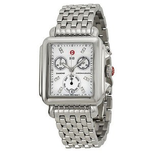 Michele Michele Ladies Deco Mother Of Pearl Dial Chronograph Watch