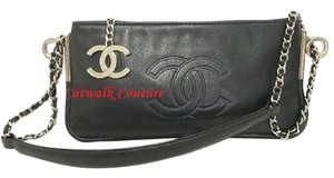 Chanel Lambskin Silver Hardware Shoulder Bag