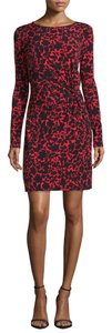 MICHAEL Michael Kors short dress RED BLACK on Tradesy
