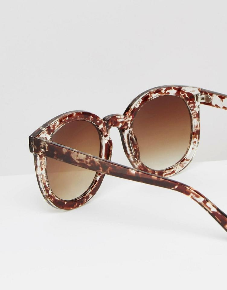 c041968d36 Missguided Brown Tortoise Shell Oversized Large Round Frame Sunglasses -  Tradesy
