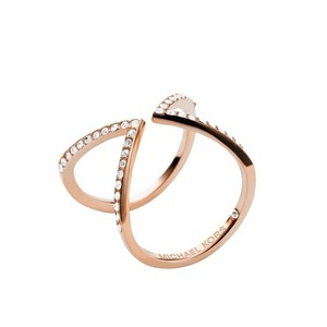 Michael Kors NWT Collection Open Arrow Ring ROSEGOLD -TONE MKJ37507919 SIZE 9
