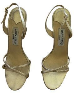 Jimmy Choo Strappy Gold Metallic Slingback Light gold Sandals
