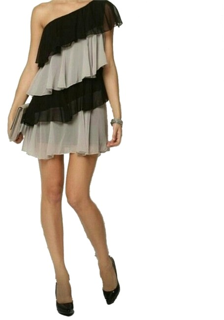 Item - Grey Above Knee Night Out Dress Size 8 (M)