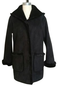 Jones New York Shearling Fur Parka Fur Coat