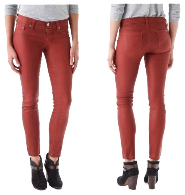 Item - Krista Supper Coated Wax Amber Skinny Jeans Size 24 (0, XS)