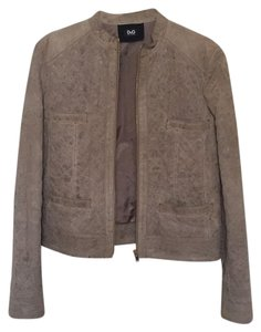 Dolce&Gabbana Beige Suede Leather Jacket