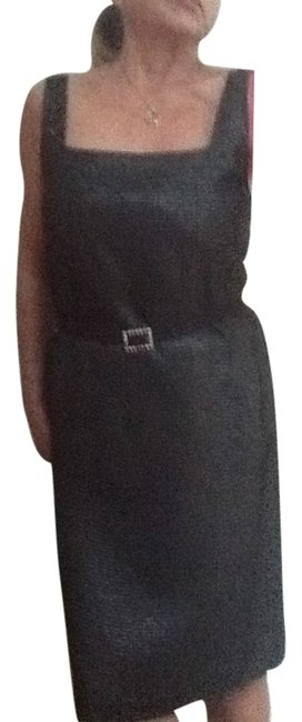 Preload https://item3.tradesy.com/images/black-and-graysilver-gray-sleevless-simple-slick-knee-length-cocktail-dress-size-10-m-1953057-0-0.jpg?width=400&height=650