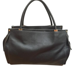 Chloé Leather Monogram Tote in Black