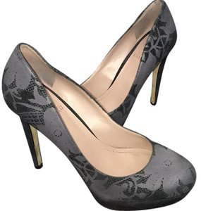 Vince Camuto Black and Gray Platforms