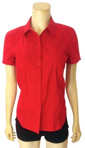 A|X Armani Exchange Button Down Button Down Shirt red