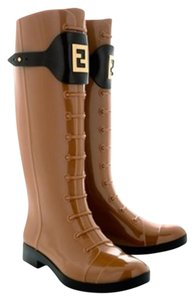 Fendi Rain Tabacco Brown Boots