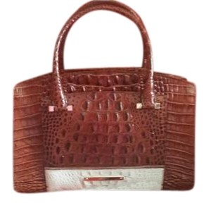 Brahmin Satchel in Pecan