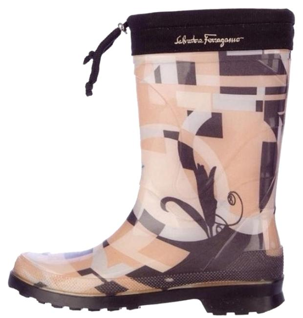 Item - Creme/ Black Abstract Boots/Booties Size US 6 Regular (M, B)