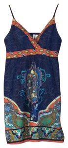 Red Camel short dress Navy blue print on Tradesy