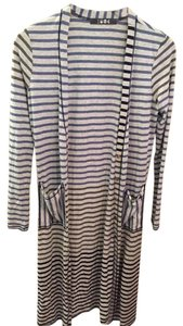 Anthropologie Striped Duster Cardigan Button Down Shirt