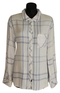 Rails Hunter And Sky Button Down Shirt White