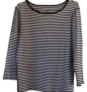 Rafaella T Shirt Black and white stripe.