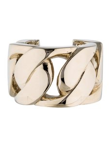 Givenchy GIVENCHY GOLD TONE OVERSIZED CURB CHAIN CUFF