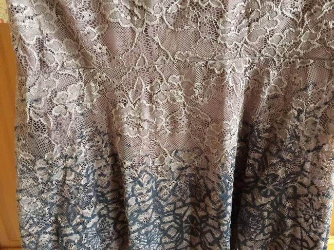 Free People Flocked Velvet Lace Fit & Flare Size Small Dress Image 1