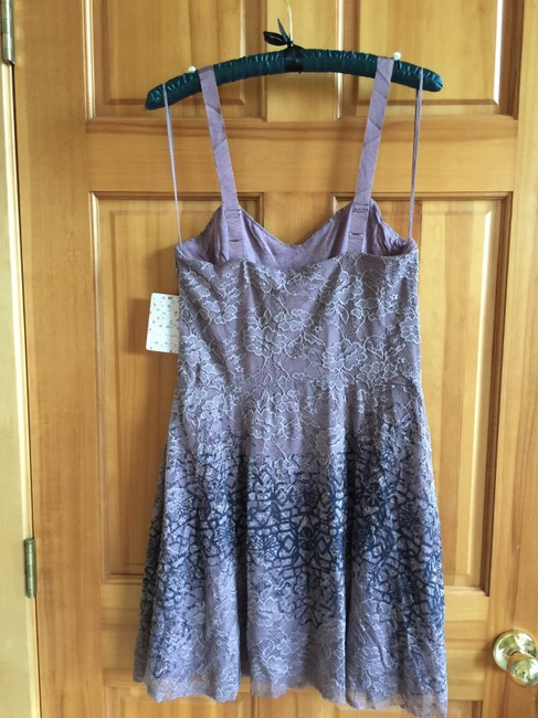 Free People Flocked Velvet Lace Fit & Flare Size Small Dress Image 2