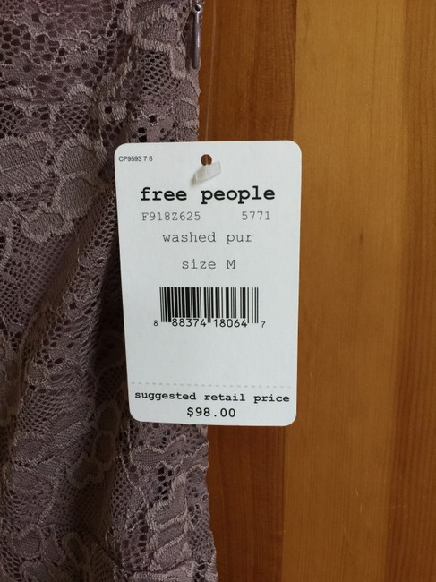 Free People Flocked Velvet Lace Fit & Flare Size Small Dress Image 6