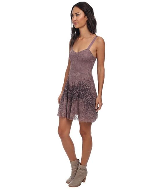 Free People Flocked Velvet Lace Fit & Flare Size Small Dress Image 7