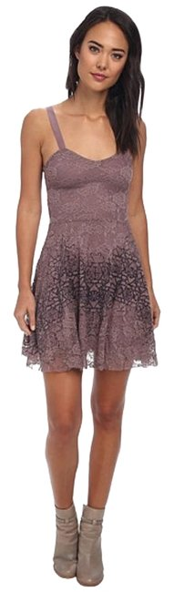 Free People Flocked Velvet Lace Fit & Flare Size Small Dress Image 8