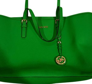 Michael Kors Gently Used Tote in green