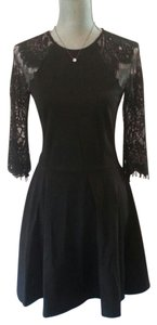 BB Dakota Lace Back Lace Long Sleeve Dress