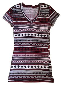 Wet Seal Printed T T Shirt Multi-color