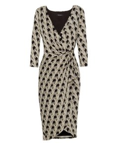 White House | Black Market Wrap Print Dress