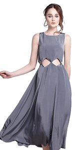 Anthropologie Midi Silky Occasion Dress