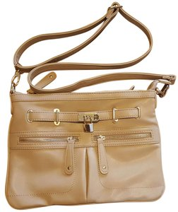 Street Level Gold Faux Leather Cross Body Bag