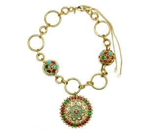 Chanel Chanel Multicolor Poured Glass Medallion Necklace