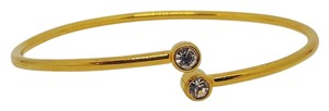 Other Double CZ Gold Plated Bangle