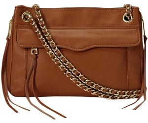 Rebecca Minkoff Leather Silver Hardware Chain Shoulder Bag