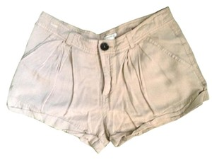 Forever 21 Pleated Mini/Short Shorts Khaki