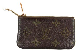 Louis Vuitton Monogram Canvas Leather Pochette Cles Credit Coin Purse
