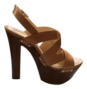 Jessica Simpson High Wedge Platform Beige, Buff Wedges
