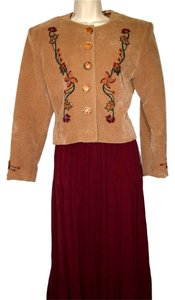 Other Women's Matching Ultra Suede Beaded Jacket With Full Maxi Skirt