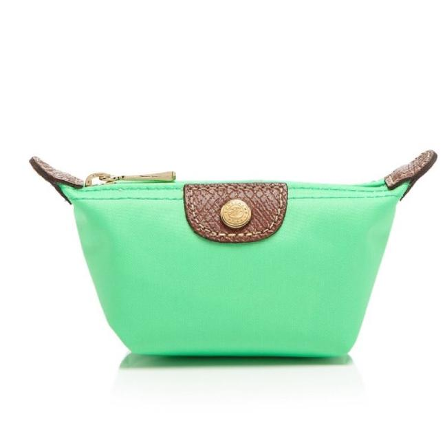 Item - Green Le Pliage Mine Zip (Coin Case) Cosmetic Bag