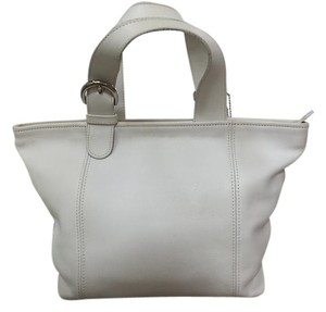 Coach Vintage Leather Satchel in White