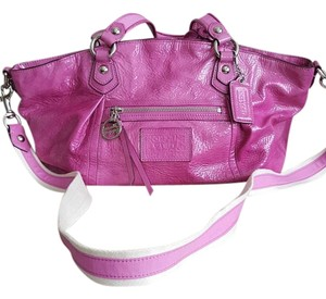 Coach Poppy Patent Leather Satchel in Pink