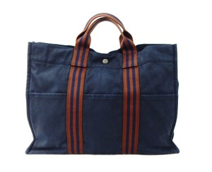 Hermès Vintage Canvas Tote in Blue