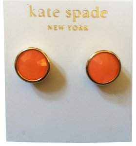 Kate Spade NWT- FAST SHIPPING NEON CORAL STUD EARRINGS VALENTINE'S GIFT