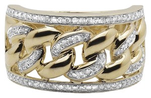 Other Mens 10k Yellow Gold Miami Cuban Link Real Diamond Ring 0.75ct